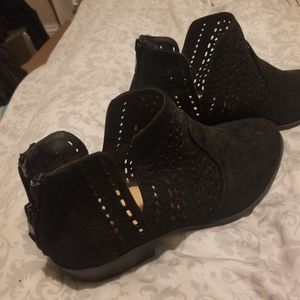 Wide Black Torrid Ankle Boots
